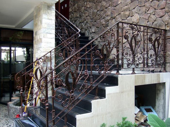 铁艺围墙栏杆,钢架楼梯